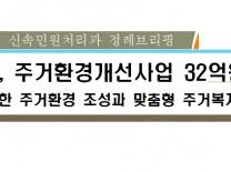 태안군, 쾌적한 주거복지 실현을 위해 32억원 투입